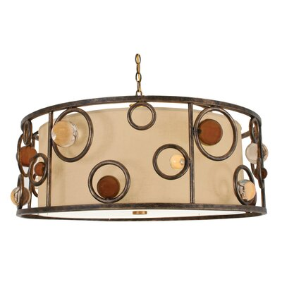 Free Wheeling Wheels & Wheels 3-Light Pendant