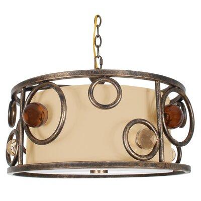 Lauver  3-Light Drum Pendant