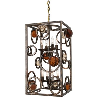 Free Wheeling Flair 8-Light Chandelier Pendant