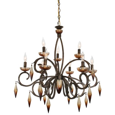 Dance of Fire Yleana 9-Light Candle-Style Chandelier