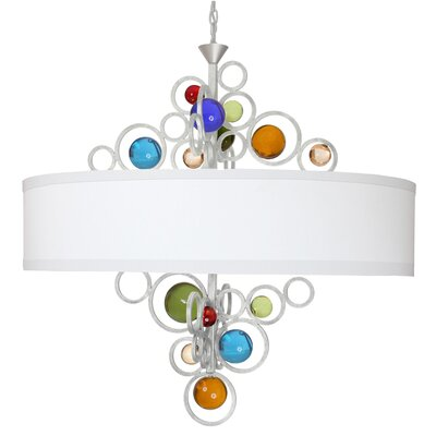 Free Wheeling Wheels Of Style 6-Light Drum Chandelier