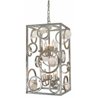 Krieger 8-Light Foyer Pendant Finish: Silver