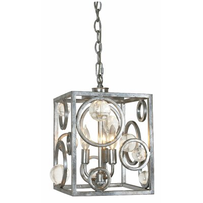 3-Light Foyer Pendant Finish: Silver