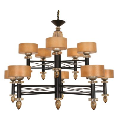 Laverock 10-Light Drum Chandelier