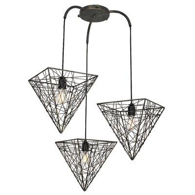 District Oxford 3-Light Shaded Chandelier