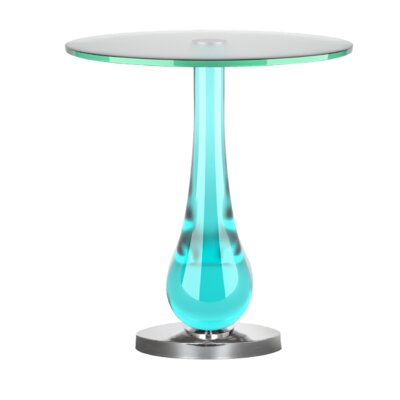 Raul End Table Color: Blue