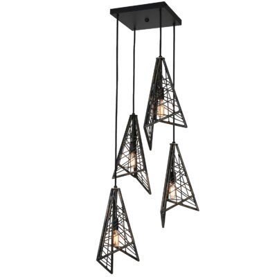 District Midtown 4-Light Cascade Pendant