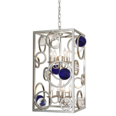 Free Wheeling 8-Light Foyer Pendant
