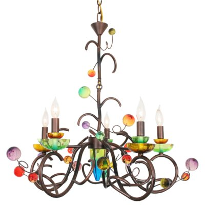 Brazillian Nights 5-Light Candle-Style Chandelier