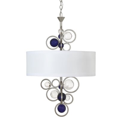 Free Wheeling 3-Light Drum Pendant