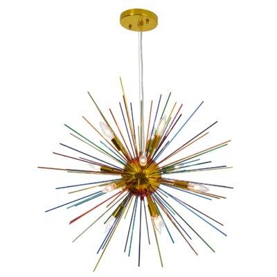 Opulent 12-Light Cluster Pendant