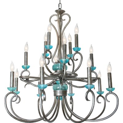 Bronson Crown 16-Light Candle-Style Chandelier