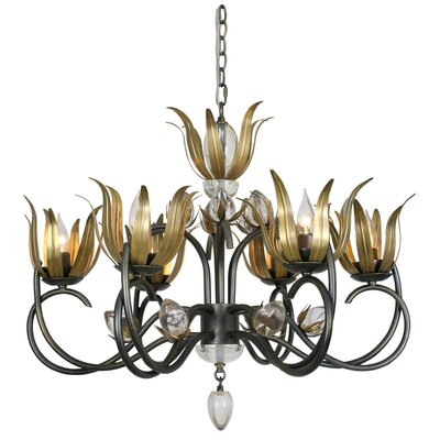 Mcclean 6-Light Candle-Style Chandelier Color: Gold