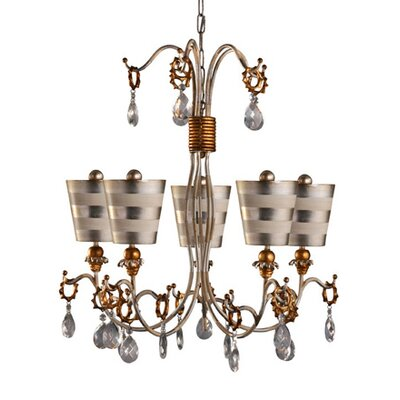 Tivoli 5-Light Crystal Chandelier Shade Color: Silver