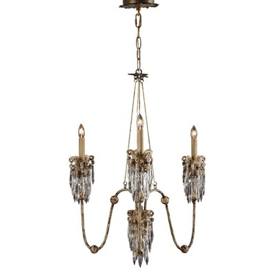 Venetian 3-Light Candle-Style Chandelier