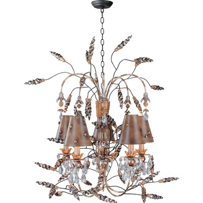 Borowski 5-Light Shaded Chandelier