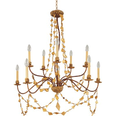 Mosaic 10-Light Candle-Style Chandelier