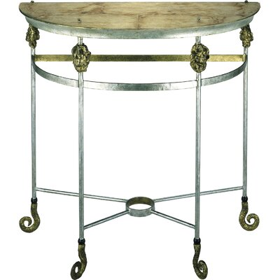 Cheap Flambeau Lighting Armory Demi Lune Table in Gold and Silver (FMB1142)
