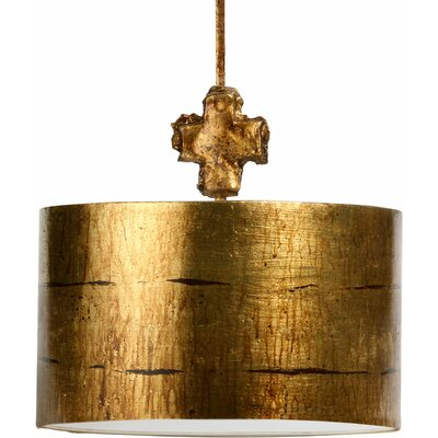 1-Light Drum Pendant Finish: Gold