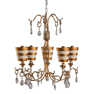 Cortese 5-Light Crystal Chandelier Shade Color: Gold