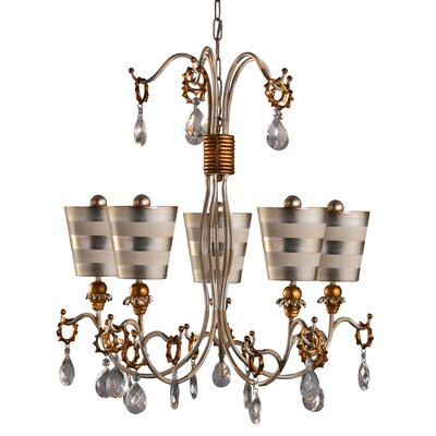 Cortese 5-Light Crystal Chandelier Shade Color: Silver