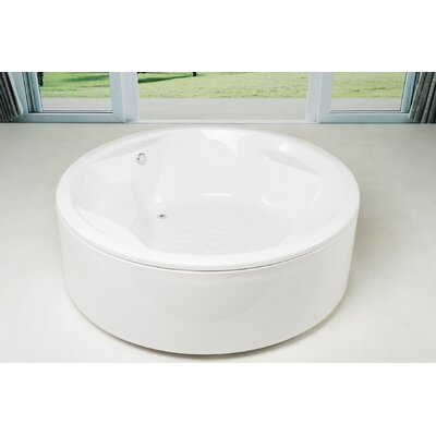 Allegra 74.75 x 74.75 Soaking Bathtub Finish: White