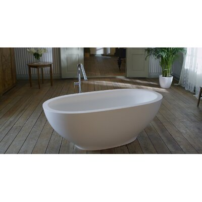 Karolina 70.75 x 35.5 Soaking Bathtub Finish: White
