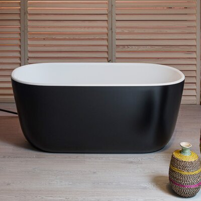 PureScape 60.63 x 26.77 Soaking Bathtub Finish: Black/White