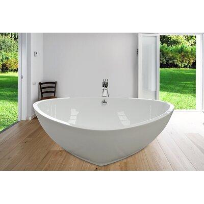 PureScape 73.25 x 59 Freestanding Acrylic Bathtub