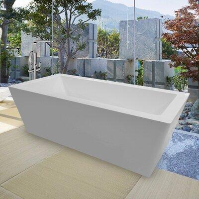 PureScape 026 Freestanding Acrylic Bathtub Size: 23.5 H x 33.5 W x 70.75 L