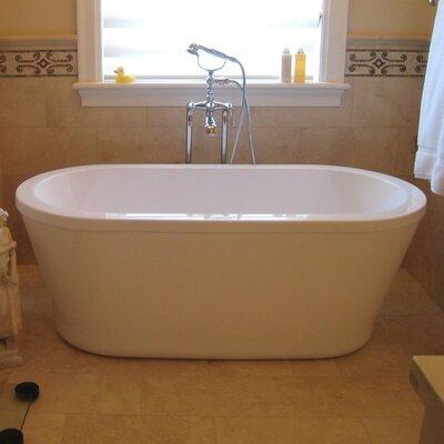 PureScape 59 x 27.5 Freestanding Acrylic Bathtub