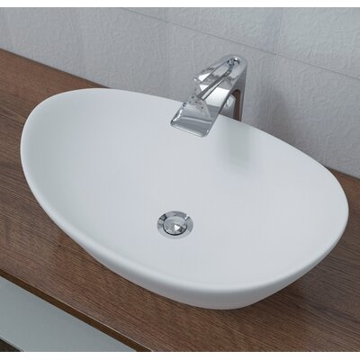 Luna? Oval Vessel Bathroom Sink Sink Finish: White Matte