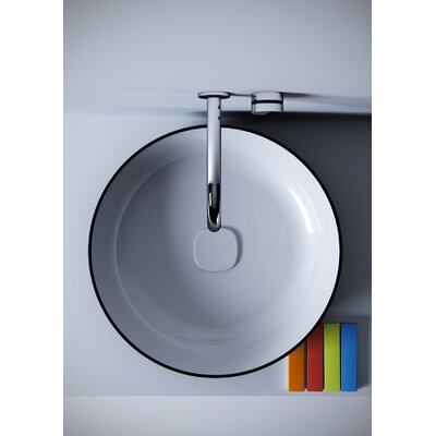Metamorfosi? Ceramic Round Ceramic Bathroom Vessel Sink
