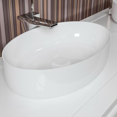 Metamorfosi? Ceramic Oval Ceramic Bathroom Vessel Sink