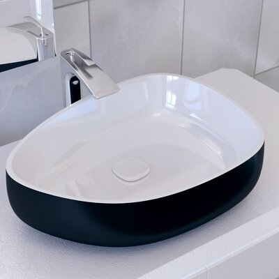 Metamorfosi? Ceramic U-Shaped Vessel Bathroom Sink