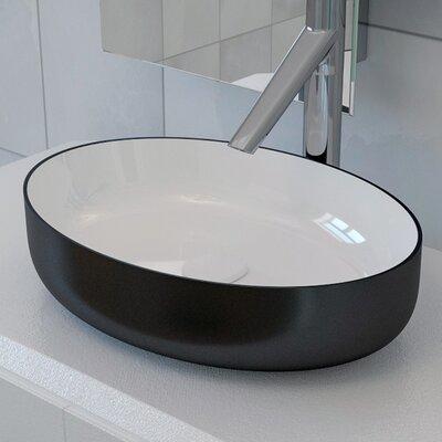 Metamorfosi? Ceramic Oval Ceramic Bathroom Vessel Sink