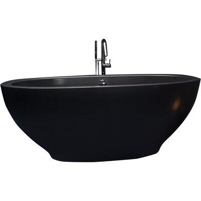 Karolina 70.75 x 35.5 Soaking Bathtub Finish: Black