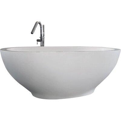 Karolina 70.75 x 35.5 Soaking Bathtub Finish: White