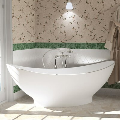 PureScape AquateX� 621 Freestanding Stone Bathtub Finish: Matte