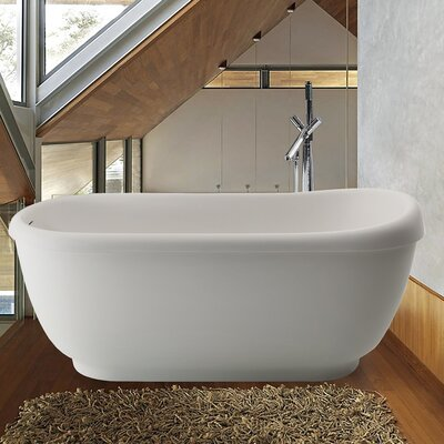 Fido 65.75 x 29 Soaking Bathtub Finish: White