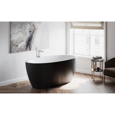 Sensuality Solid Surface 69.75 x 25.5 Freestanding Soaking Bathtub