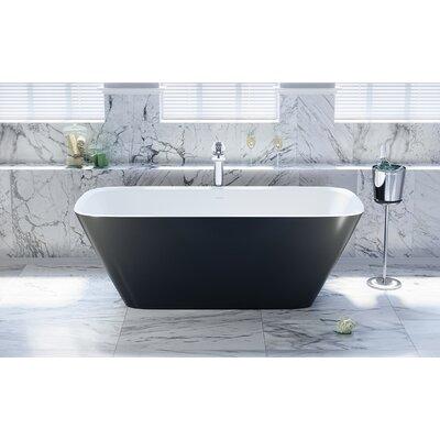 Arabella Freestanding 68.5 L x 30.25 W Soaking Bathtub