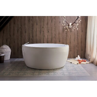 Pamela Spa Jetted 68 x 68 Freestanding Air/Whirlpool Bathtub
