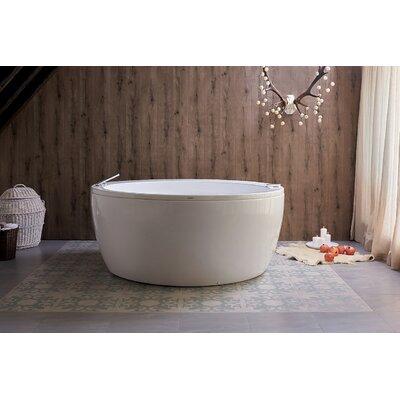 Pamela 68 x 68 Freestanding Whirlpool Bathtub