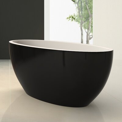 Sensuality Mini Freestanding 66.5 L x 26.75 W Soaking Bathtub