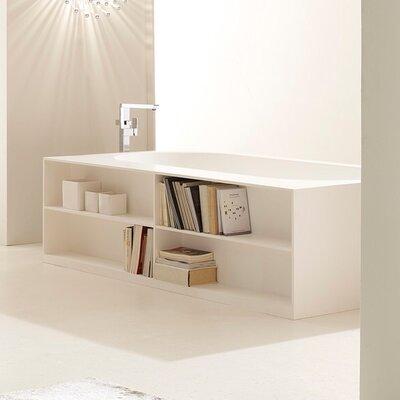 Storage Lovers Freestanding 69.75 L x 39.25 W Soaking Bathtub