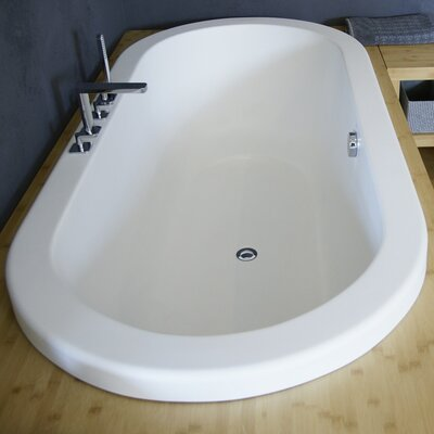 Carol Light Weight Stone 74.75 x 24 Drop In Soaking Bathtub