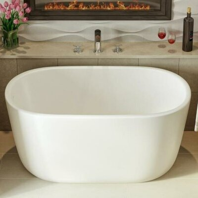 Lullaby Nano Freestanding 51.25 L x 27.5 W Soaking Bathtub