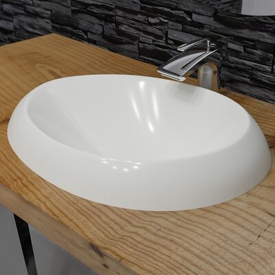 Organic Oval Vessel Bathroom Sink