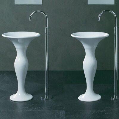 Formosa Ceramic 20 Pedestal Bathroom Sink
